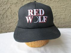 Rare Red Wolf Snap Back Trucker Cap by GeekGirlRetro on Etsy
