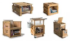 Peveto transforms shipping crates intoawesome new furniture!