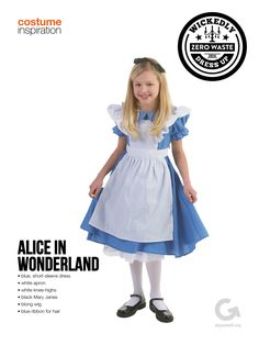 SF Goodwill Halloween Costume Inspiration Alice in Wonderland #Halloween #Costume #AliceinWonderland