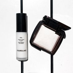 Spring into summer whites with Hourglass. Essentials for summer days and nights include our Veil Mineral Primer with SPF 15 and Ambient Lighting Powder in Ethereal Glow.