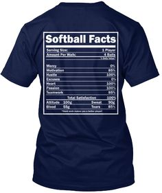 """This LIMITED EDITION """"Softball Facts"""" t-shirt or hoodie defines exactly what us Softball players are made of!LIMITED EDITION T-SHIRT ONLY $22.99 - ENDS SOON! Not sold in stores.Click """"Buy it now"""" to pick your size and order!"""