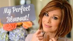 My Perfect Blowout! My Perfect Blowout! Blowout Hair Tutorial, Curly Hair Tutorial, My Hairstyle, Pretty Hairstyles, Straight Hairstyles, Short Haircuts, Bobs, Dominique Sachse, Perfect Blowout
