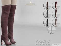 Sims 4 CC's - The Best: Madlen Cybele Boots by MJ95