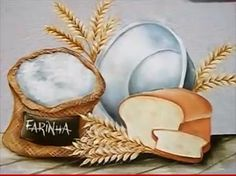 How to paint a bread on canvas step by step Bakery Sign, Art Quotes Funny, Chef Kitchen Decor, Bread Art, Food Clipart, Kitchen Artwork, Country Paintings, Fashion Wall Art, Decoupage Paper