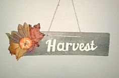 Harvest Pallet Sign by TeeCeeSigns on Etsy, $10.00