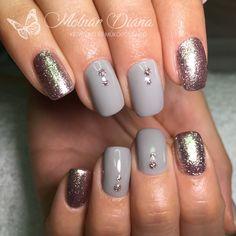 #nail #nailart #silvernails #greynails #köröm #ezüstköröm #szürkeköröm CN 3S 3, FD 1