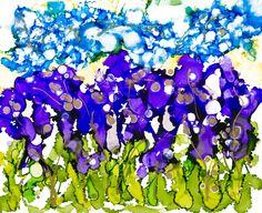 Lovitude Blue Sky Iris Garden by Annie Pryor