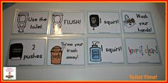 FREE toilet time task cards and other ideas for bathroom procedures in your classroom!