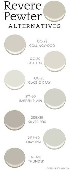 1000 Ideas About Revere Pewter On Pinterest Benjamin Moore Paint Colors A