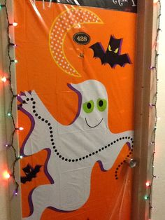 Decorated the door for Halloween #WVU #SummitHall