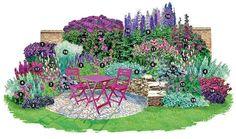 staudenbeet anlegen pflanzplan | Ein Traum in Purpur und Silber - Stauden | Blumengarten - Gartenpraxis ...