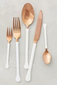 Anthropologie Copper Top Flatware #anthrofave