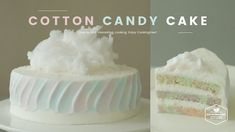솜사탕을 올린 파스텔 생크림 케이크 만들기 : Cotton Candy Cake Recipe - Cooking tree 쿠킹트리*C...