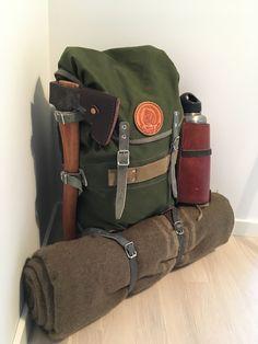 Modified norwegian patrol pack. #bushcraftequipment