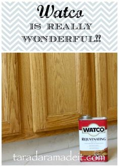 Clean your cabinets and make them look new with this gold in a can! No sanding, no refinishing, just minutes to a new and improved cabinet face #diy
