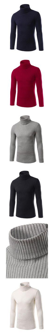 Turtleneck Men Sweater 2016 Winter Thick Warm Slim Fit Solid Men's  Pullovers Newly Arrival Mens Clothes Plus Size M-XXXL UW363