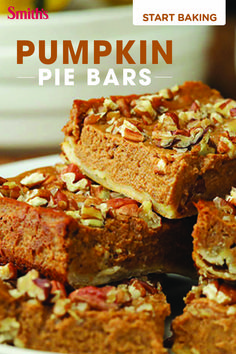 Start your winter baking with Smith's. These Pumpkin Pie Bars are a perfect treat. Get the easy-to-make recipe.
