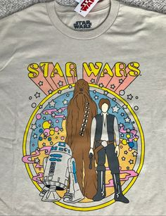 d961f054 Men M STAR WARS HIPPIE T-SHIRT Tan 60s Retro Psychedelic Han Solo Chewbacca  R2D2 #FifthSun #GraphicTee