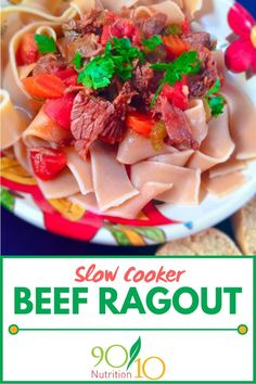 Slow Cooker Beef Ragout can be used as a freezer meal. Let your slow cooker do all of the work for you and you take all of the credit. Slow Cooker Balsamic Chicken, Slow Cooker Beef, Slow Cooker Recipes, Clean Dinners, Clean Eating Recipes For Dinner, Clean Eating Slow Cooker Recipe, Beef Ragout, Real Food Recipes, Healthy Recipes
