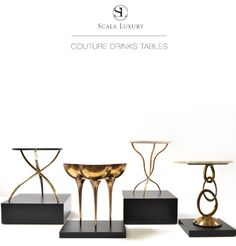 Couture Drinks Tables by Scala Luxury