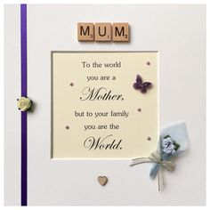 Handmade frame for a beautiful Mother  (23 x 23cm)  #handmade #handcrafted #craft #art #mother #mum #mumframe #purple #rose #bouquet #butterfly #heart #pearl #ribbon  #quote #personalised #gift #creative #keepsake #family #leicester #personalisedframe #personalisedgifts #giftideas #madewithlove #frames #loveframes #beautiful #leicestergram #bespoke by handmade_personalised_frames