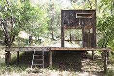 California Architect Couldn't Find a Cabin to Rent so He Built His Own from Reclaimed Wood