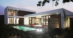 one story modern house plan | wf2studio modern plan collection large image