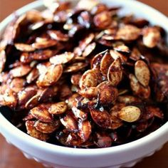 Sweet Salty Roasted Pumpkin Seeds | Nutmeg Nanny