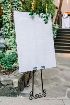 Custom signage seating chart at Calamigos Ranch Wedding - Birchwood Room Wedding Reception Centerpieces, Wedding Table, Rustic Wedding, Boho Wedding, Wedding Places, Our Wedding Day, Wedding Ideas, Event Planning Design, Wedding Planning Tips