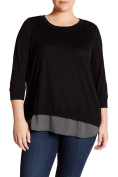Long Sleeve Pullover (Plus Size)