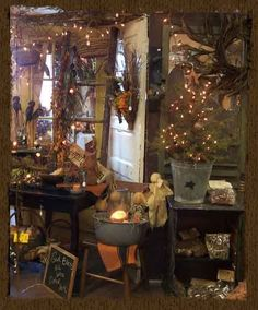 Primitive Store Display Ideas   ... and do come back for more pictures, displays, and decorating ideas: