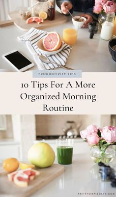 10 Tips for a More Organized Morning Routine | Productivity Tips | Looking for time-management tips to be less rushed in the morning and start your day well? Click for simple ways to organize your life, develop a quick hair and makeup routine, plan your outfits in advance and save time in the morning. | How To Organize Your Life | Organization Tips | Morning Schedule | Pretty Simple Days #morningroutine #timemanagement #productivity #organize #planningtips