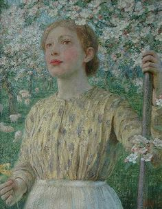 William Herbert - Shepherdess amongst blossom
