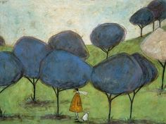 Sniffing The Lilac Art Print by Sam Toft - WorldGallery.co.uk