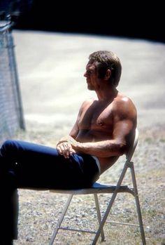 Steve McQueen | Back set of The Getaway | 1972 | as Doc McCoy