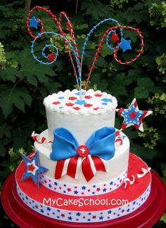July 4th Cake  [ Partymachines.com ] #July #4th #Celebration #Fun