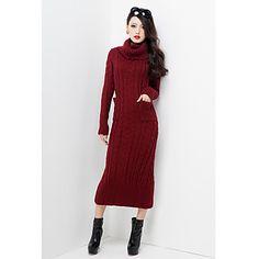 Winter High Vestido largo cuello de HERA Mujeres – EUR € 18.97