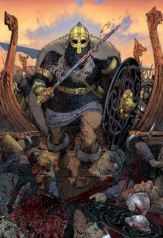 CHRISTIAN SLOAN HALL Medieval Fantasy, Dark Fantasy, Fantasy Art, Norse Pagan, Pagan Art, Fantasy Character Design, Character Art, Viking Berserker, Viking Images