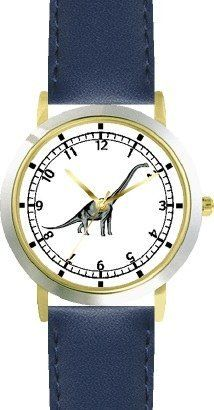 Brachiosaurus Dinosaur Animal - WATCHBUDDY® DELUXE TWO-TONE THEME WATCH - Arabic Numbers - Blue Leather Strap-Children's Size-Small ( Boy's Size & Girl's Size ) WatchBuddy. $49.95. Save 38% Off!