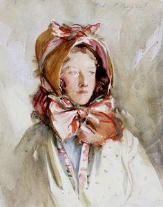 John Singer Sargent - Woman in a Bonnet, 1911 ~ (American: 1856-1925)