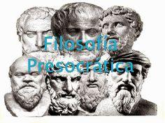 Se llaman así por haber desarrollado su filosofía con anterioridad a Sócrates, filósofo que marca un estudio diferente en la filosofía griega. La principal preocupación de los presocráticos es la naturaleza (fisis) y el principio de las cosas (arjé); por ello, se considera esta etapa, dentro de la filosofía griega, como la etapa cosmológica.