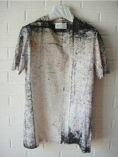 Maison Martin Margiela painted tee. Industrially chic. Love the distressed print. | Raddest Men's Fashion Looks On The Internet: http://www.raddestlooks.org