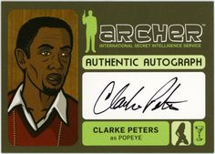 Clarke Peters as Popeye Archer Cartoon, Archer Funny, Archer Fx, Sterling Archer, Trading Cards, Art Images, Character Inspiration, Seasons