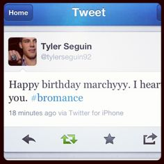OMG, Even they admit it's a bromance. Love Seggy and Marchy! Tyler Seguin, Boston Sports, Sports Memes, My True Love, Long Live, Nhl, Hockey, Hate, Feelings