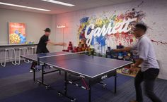 Best place to take a break and relax at work? The office game room! #officedesign