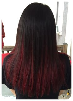 Best Picture For dark hair styles wedding For Your Taste You are looking for someth Hair Color Streaks, Hair Color For Black Hair, Cool Hair Color, Hair Highlights, Dark Hair, Hair Color Purple, Red Peekaboo Highlights, Ombre Colour, Hair Lights
