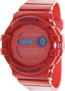 Casio Women's Baby-G BGD140-4 Red Resin Quartz Watch with Digital Dial