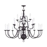 Livex Lighting Williamsburg 22 Light Chandelier in Bronze 5015-07