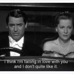 Suspicion...luv how Cary Grant calls her monkey face as a term of endearment, and it comes across as something sweet...he's the most lovable con artist.