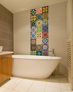 Amazon.com: Backsplash Tile Stickers 24 PC Set Traditional Talavera Tiles Stickers Bathroom & Kitchen Tile Decals Easy to Apply Just Peel and Stick Home Decor 4x4 Inch (Backslash Peel and Stick C): Gateway